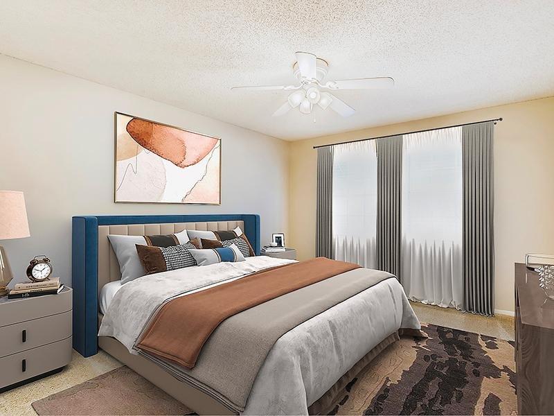 Furnished Bedroom   Bocage Apartments in Orlando, FL