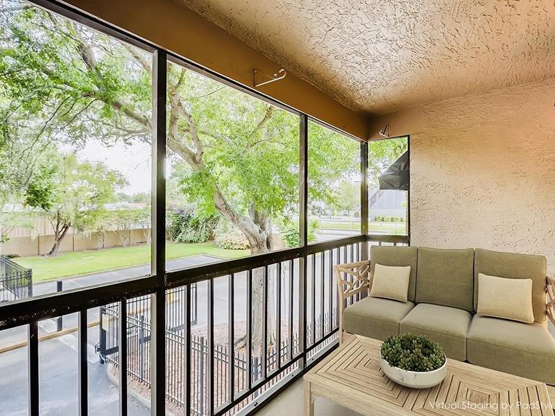 Furnished Balcony   Bocage Apartments in Orlando, FL