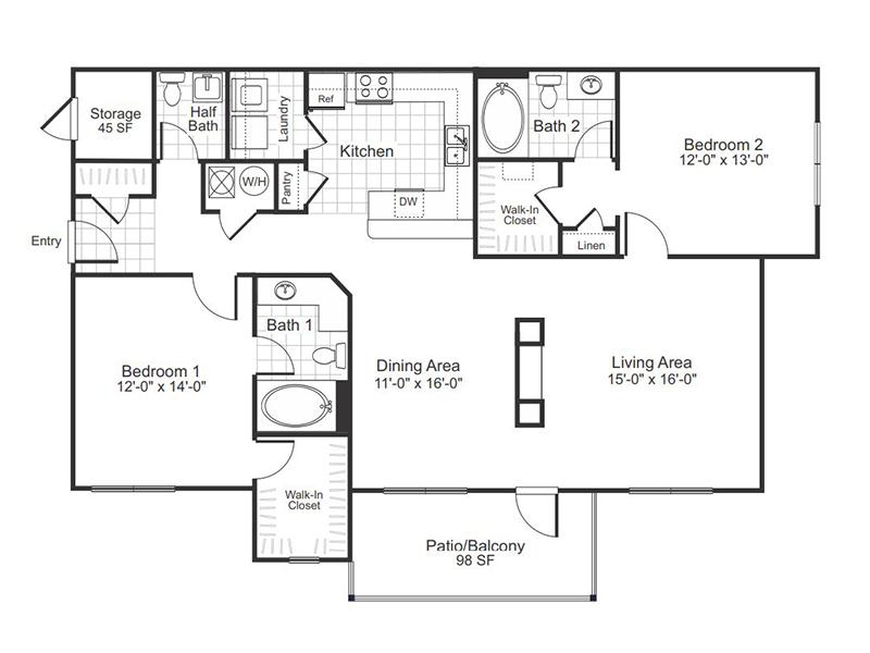Mcdonough Apartment Rentals Colton Creek Floor Plans
