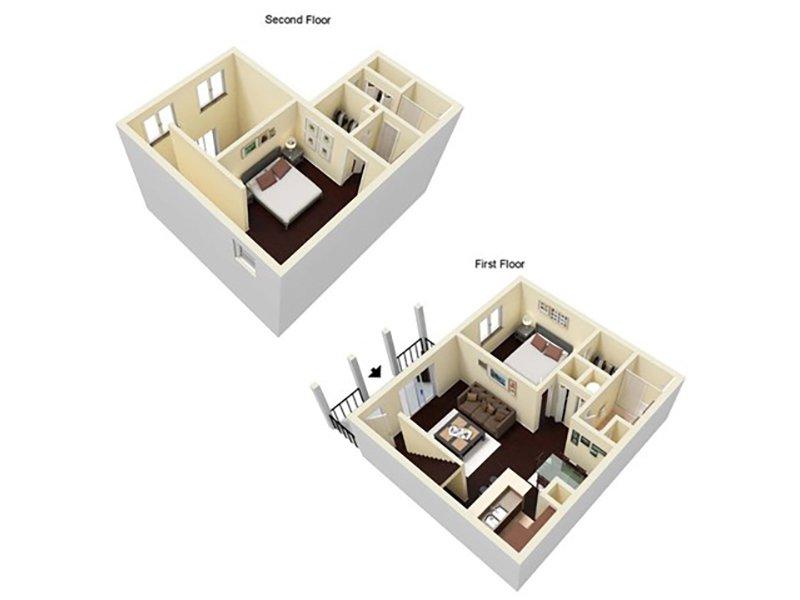 Reserve at Conway Apartments Floor Plan 2 Bedroom 2 Bathroom B