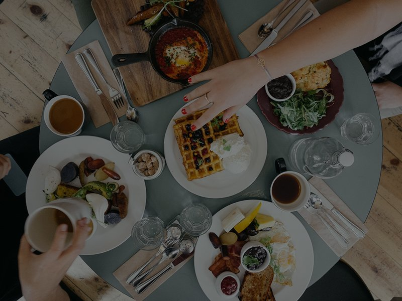 Food, Coffee, and More nearby Reserve at Conway Apartment Community