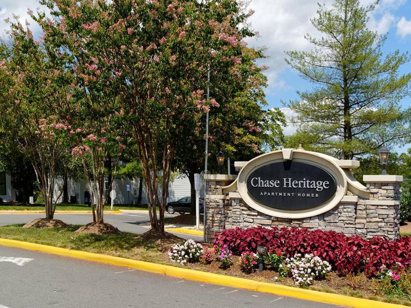 Welcome Sign | Chase Heritage Apartments