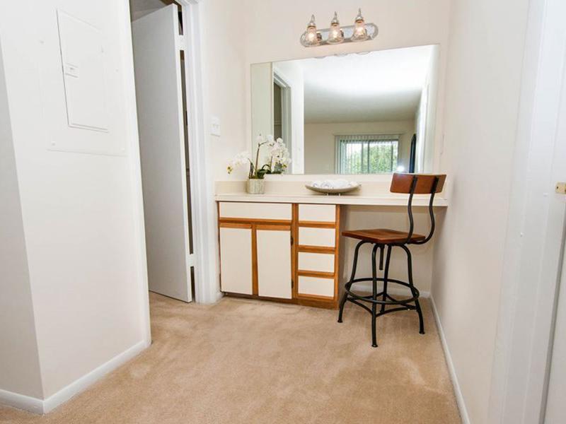 Bedroom Vanity | Chase Heritage Apartments