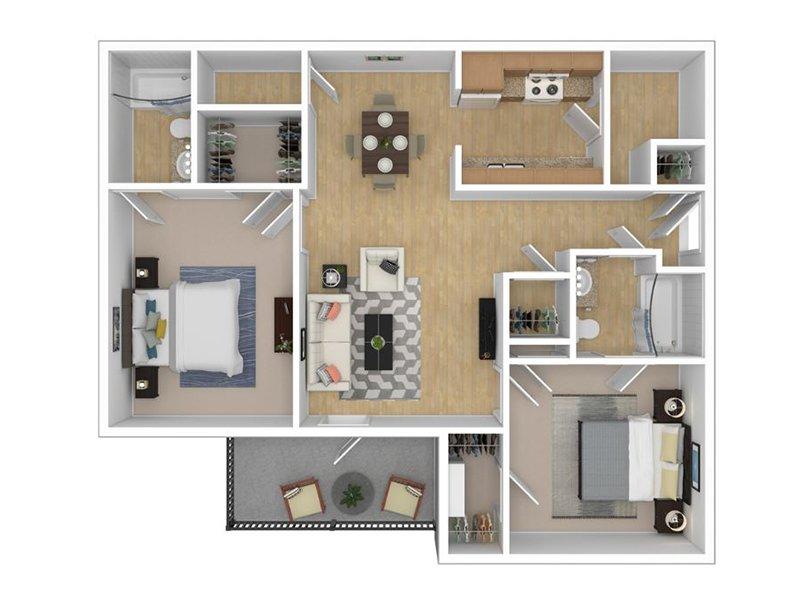 Hampton VA Apartments | The Lakes at Town Center Floor Plans