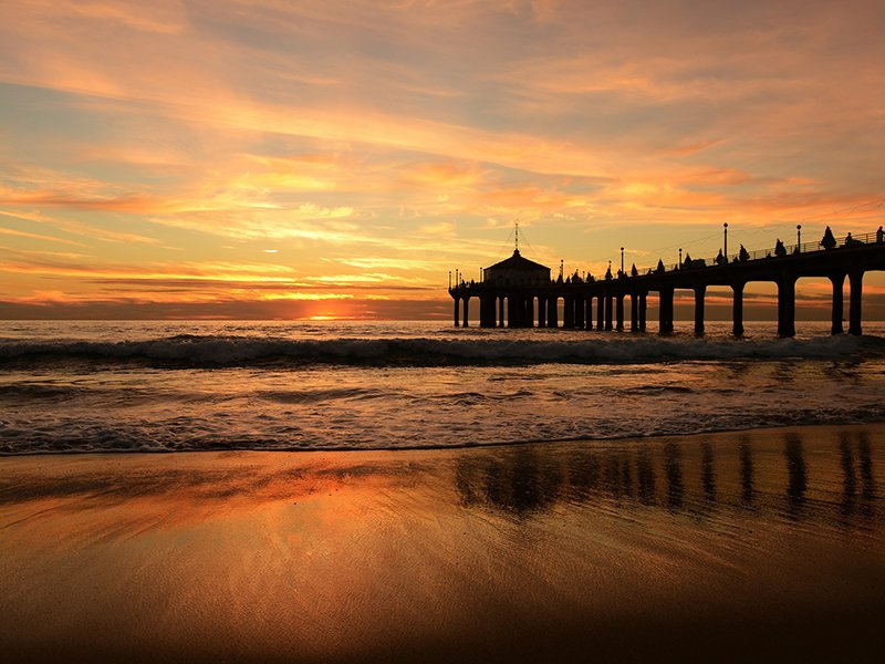 The Manhattan Beach Pier nearby Miramar Gardens Apartment Community