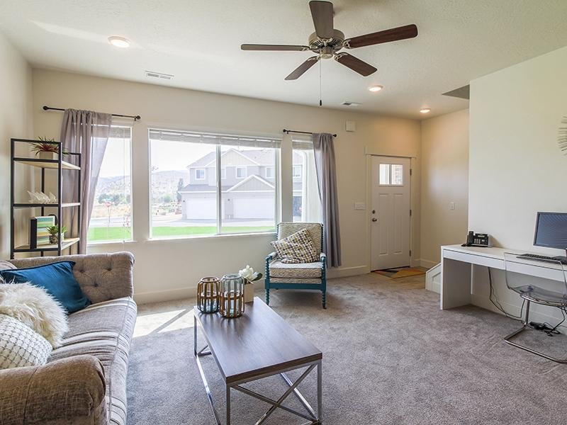 Living Room | Smithfield Station Townhomes