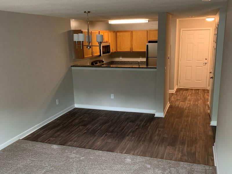 1 Bed 1 Bath Deluxe Living Room | Retreat at Stonecrest Apartments