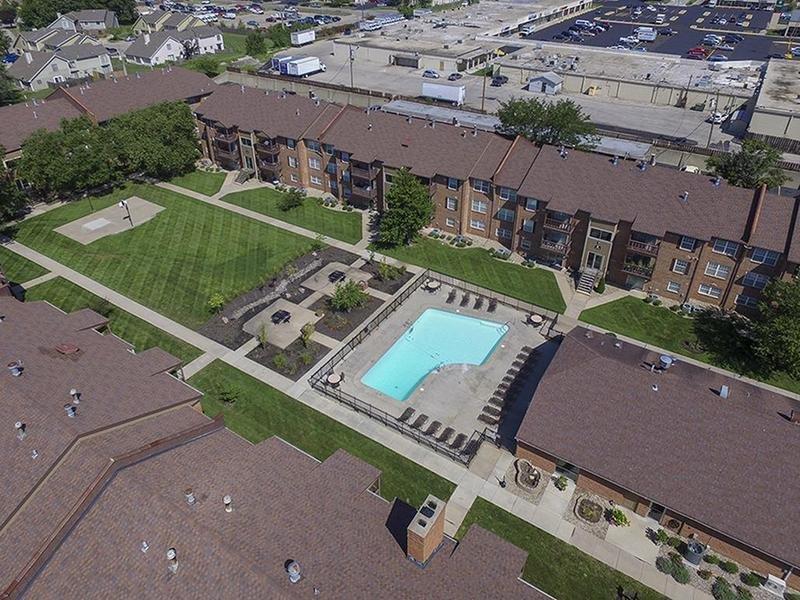 Aerial View | Village 1 Apartments