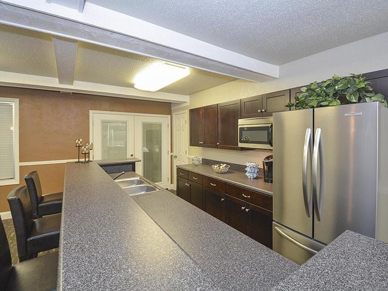 Club House Kitchen | Village 1 Apartments