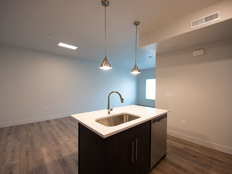Kitchen Island   Ogden Flats Apartments in Ogden, UT