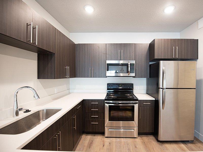 Fully Equipped Kitchen   Ogden Flats Apartments in Ogden, UT