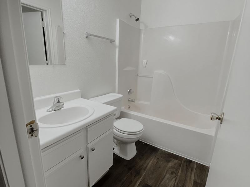 Bathroom | North Pointe Apartments in Logan, UT