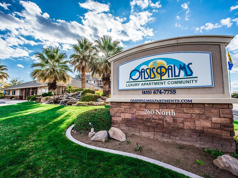 Welcome Sign | Oasis Palms | St George, UT