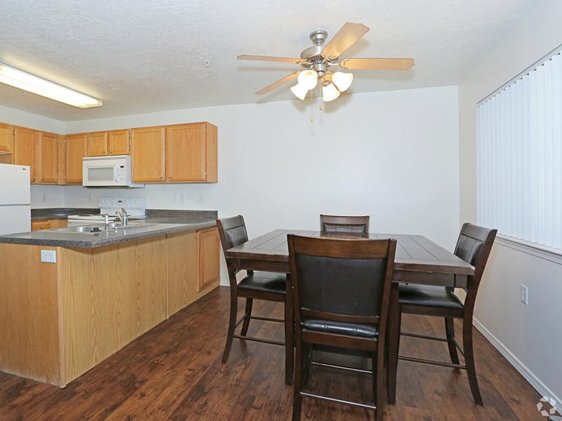 Dining Room | Kitchen | Oasis Palms Apts