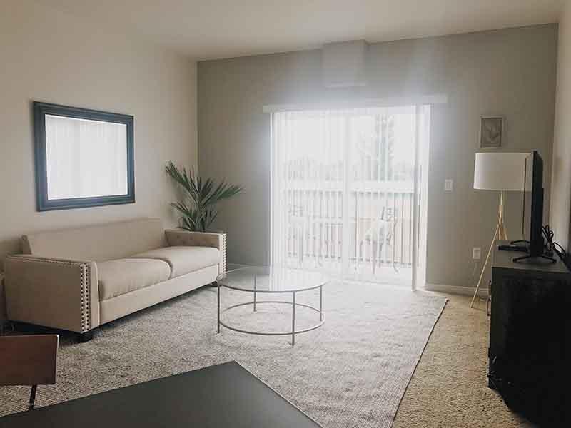 Living Room | Village on Main Street Apartments in Bountiful, UT