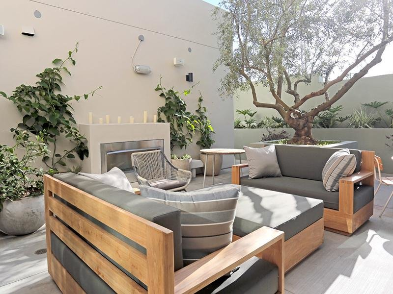 Outdoor Fire Place | The Kodo Apartments