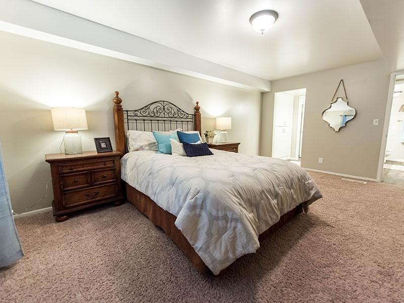 Master Bedroom With Master Bathroom | Miller Estates Apartments