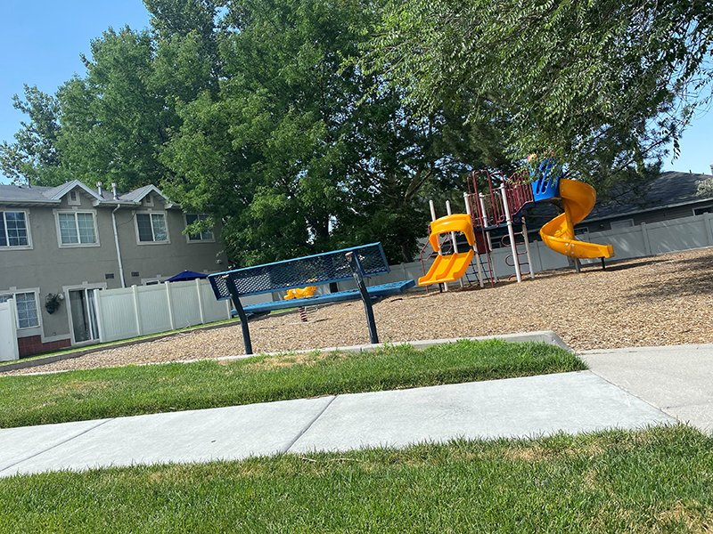 Playground Bench | Westland Cove Apartments in West Valley City, UT