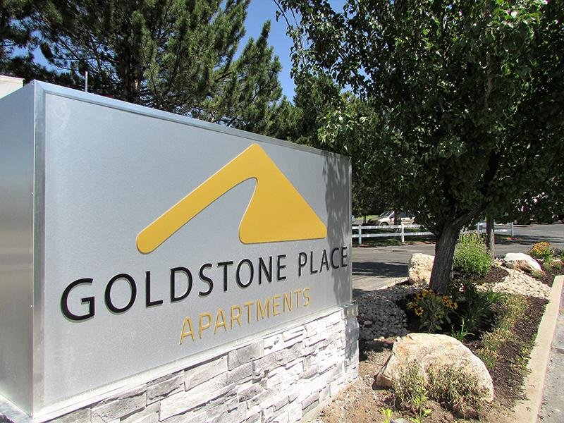 Welcome Sign | Goldstone Place Apartments