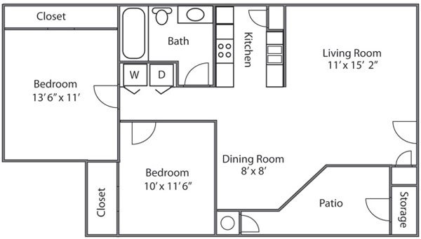 2 Bedroom 1 Bathroom in Murray, UT