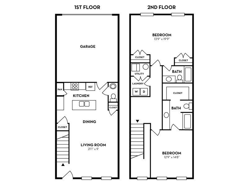2 Bedroom 2.5 Bathroom in Murray, UT