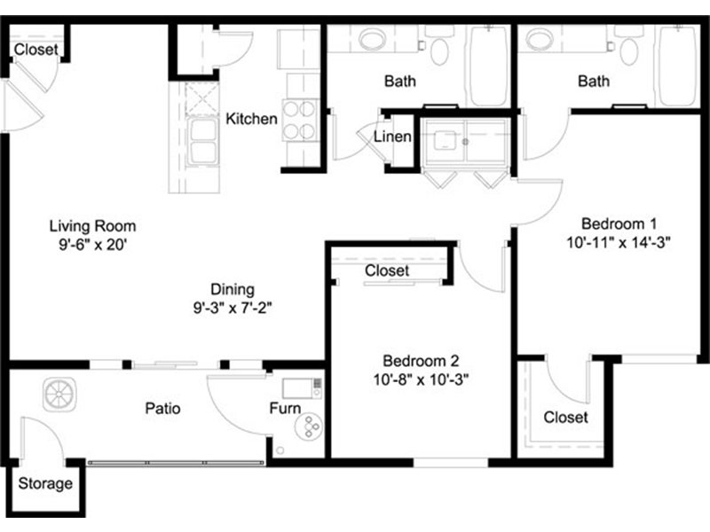2 Bedroom 2 Bathroom in Murray, UT