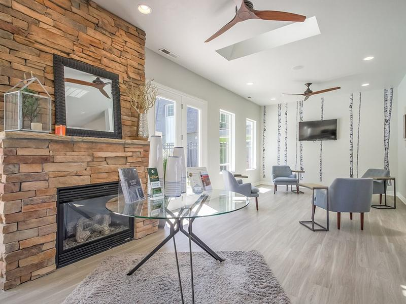 Clubhouse Fireplace | The Park Apartments
