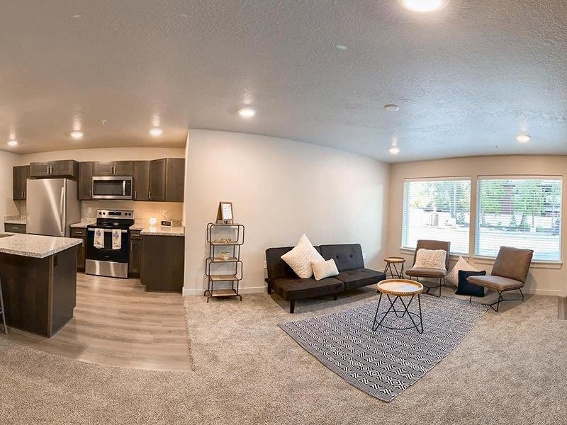 Living Room & Kitchen | Millcreek Cove