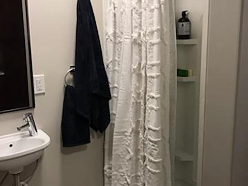 Bathroom | Green Print at West Temple