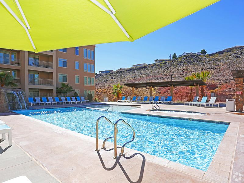 Pool Side | Legacy Ridge Apartments