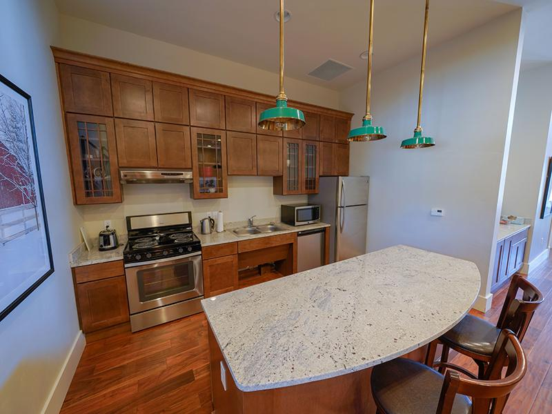 Clubhouse Kitchen | Remington Apartments in Helena, MT