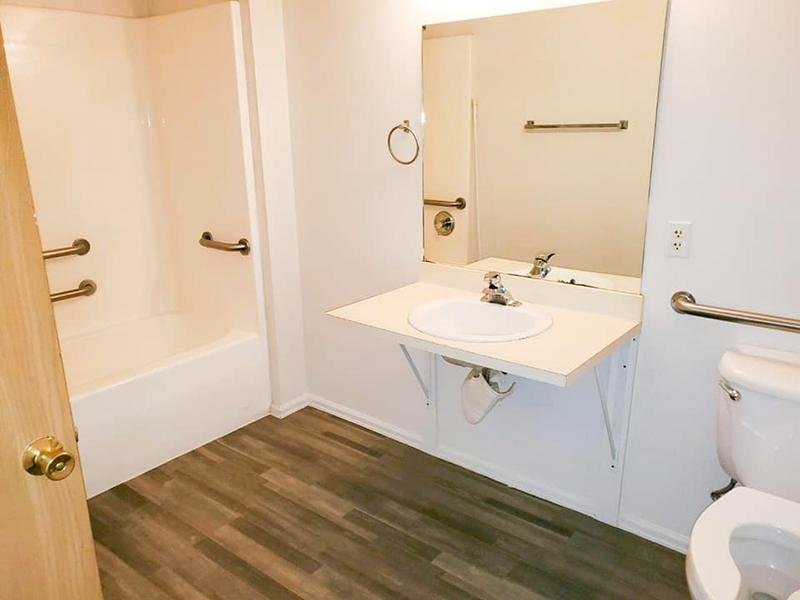 Bathroom | Stonegate Village Apartments in Pueblo West, CO