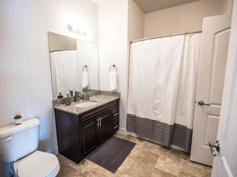 Tower view- Apartments in Ogden Bathroom A
