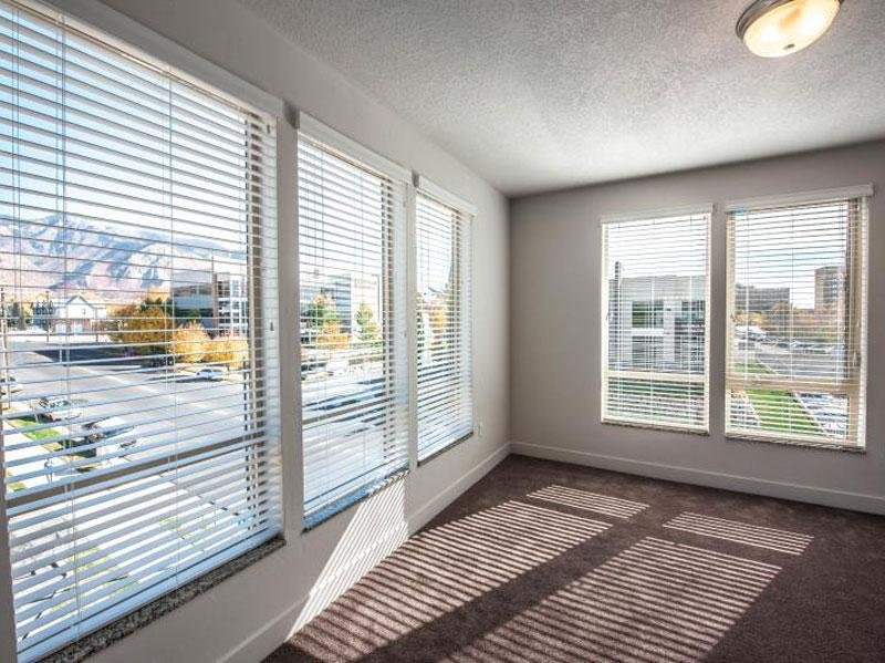 Tower view: Apartments in Ogden Bedroom