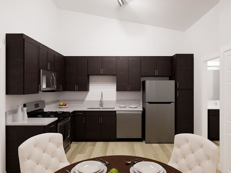 Fully Equipped Kitchen   Rendering   Vela Apartments