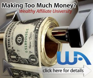 wa too much money 336x280 300x250 - What Is Wealthy Affiliate? A Review...