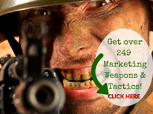 Get Marketing Weapons 600x450 - Product Review - 49 Covert Guerrilla Marketing Tactics