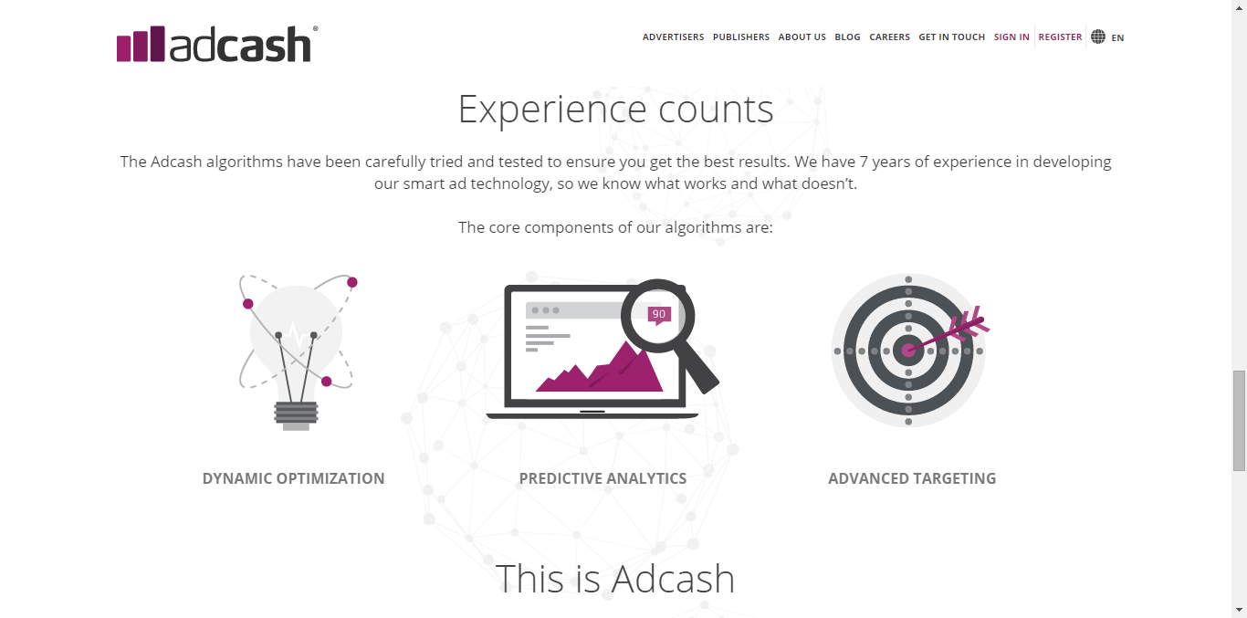 AdCash Experience Page - Free or Low Cost Traffic for Your Website