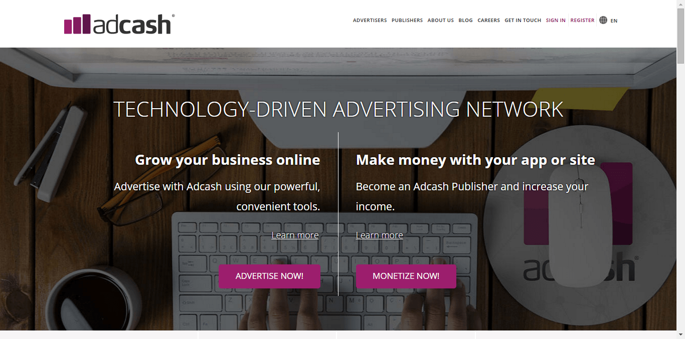 Adcash Home Page - Free or Low Cost Traffic for Your Website
