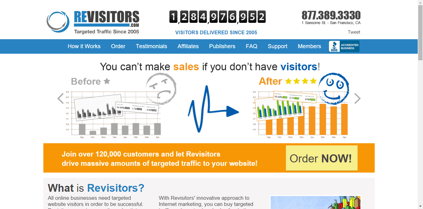 Revisitors Home Page  - Free or Low Cost Traffic for Your Website