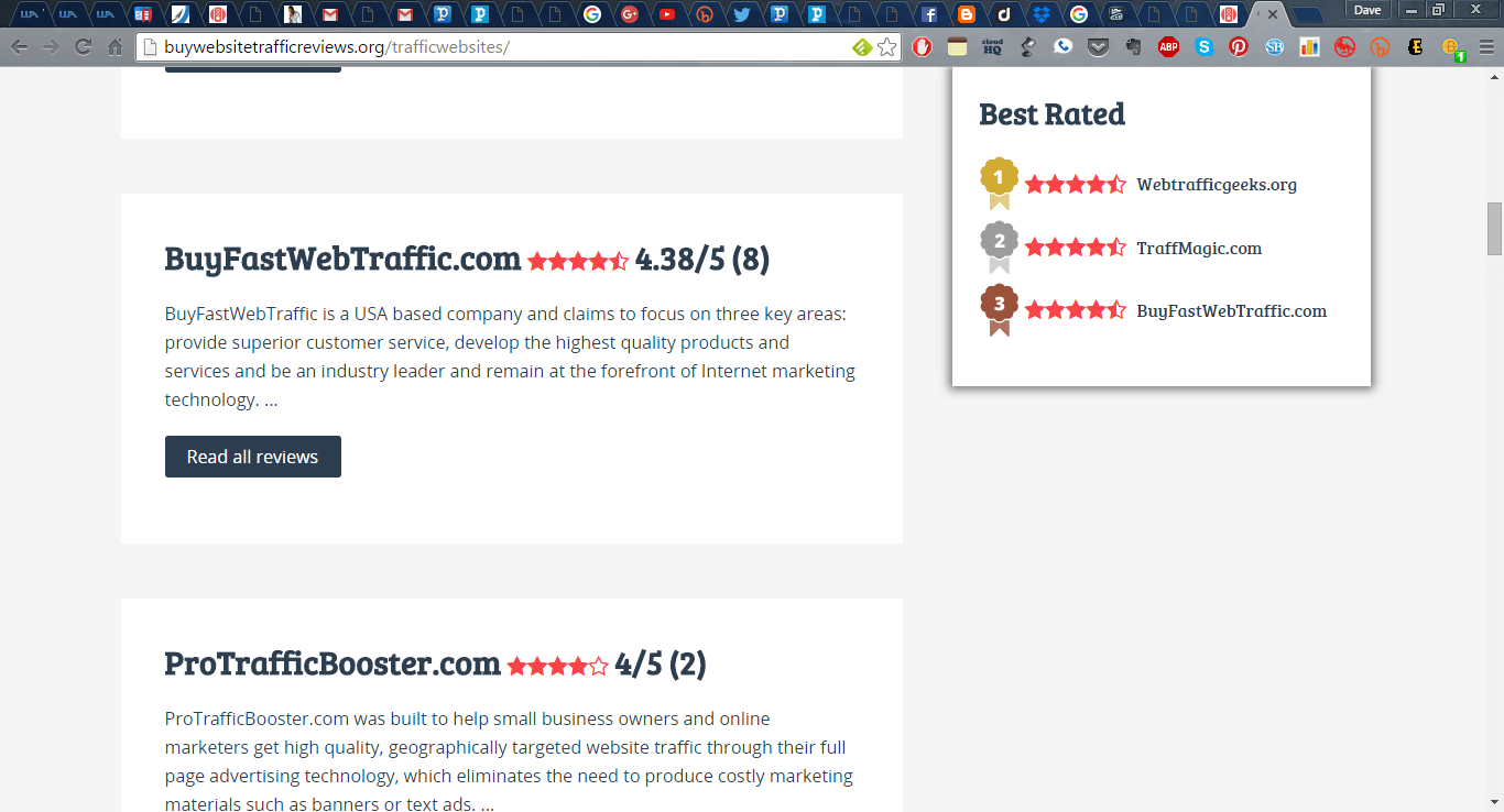 BuyfastWebtraffic reviews and rating - Free or Low Cost Traffic for Your Website