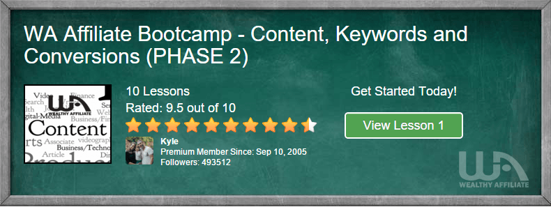 WA Bootcamp Phase 2 - Super Affiliate Conference 2016 - Wealthy Affiliate Top Affiliates