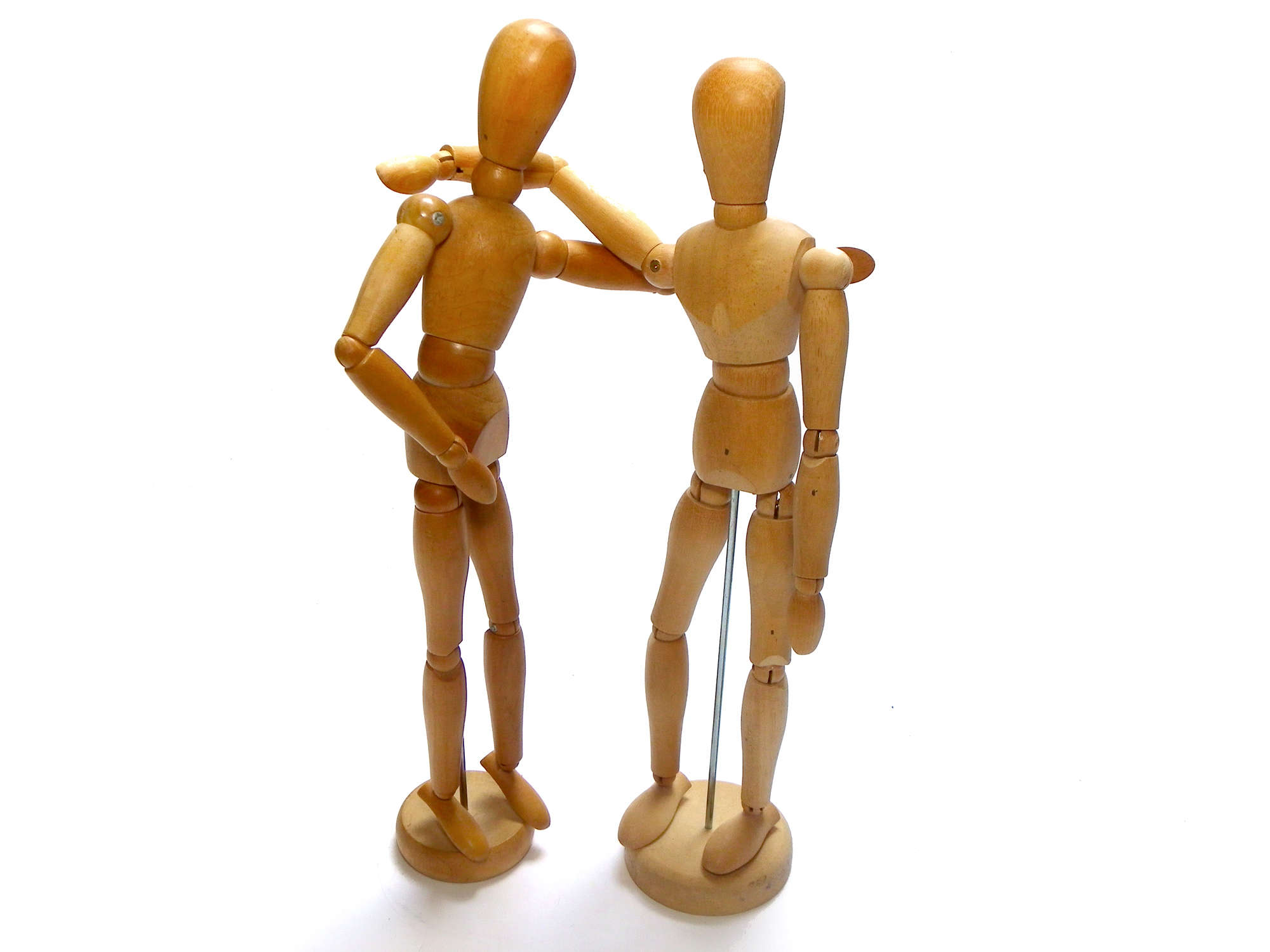 Two Wooden Figures