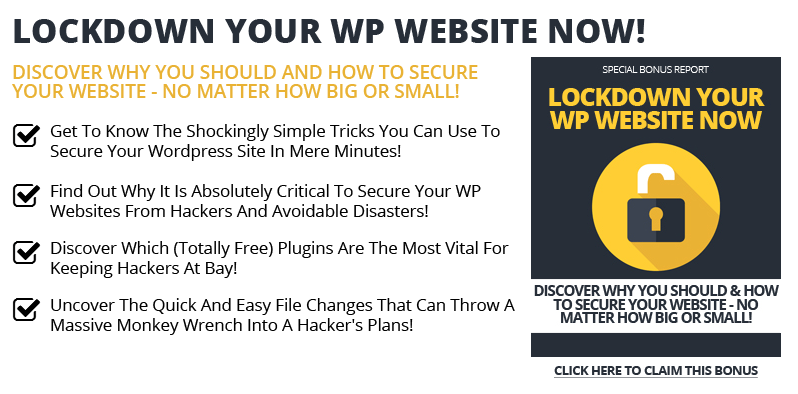 Cover Lockdown Your WP Site