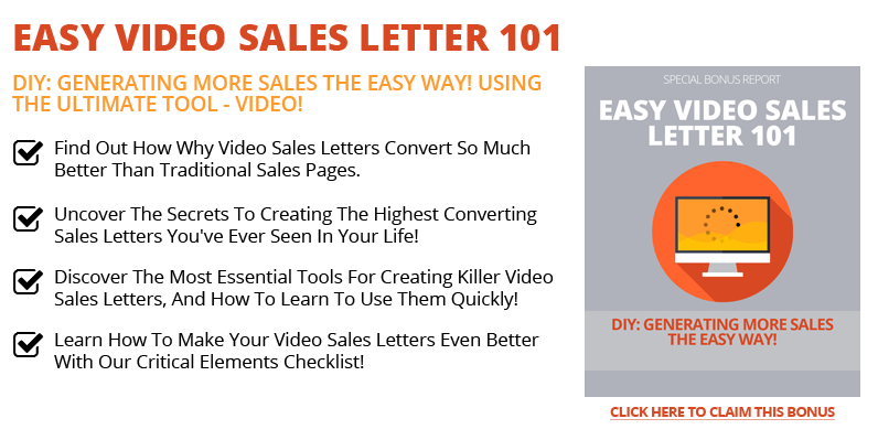Easy Video Sales Letter 101 Helping You Make Money Online