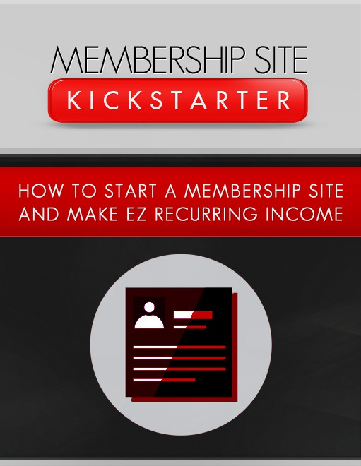 ecover - How To Make Quick Money Online - Niche Membership Sites