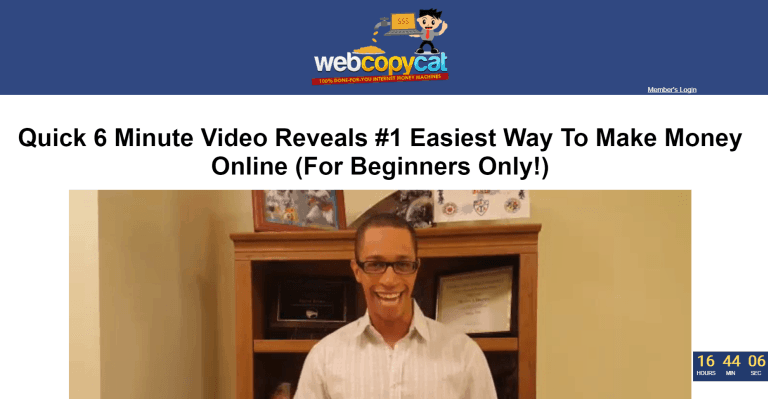 webcopy cat sales page - Review of Web Copy Cat Online Marketing Platform - A Place For Beginners
