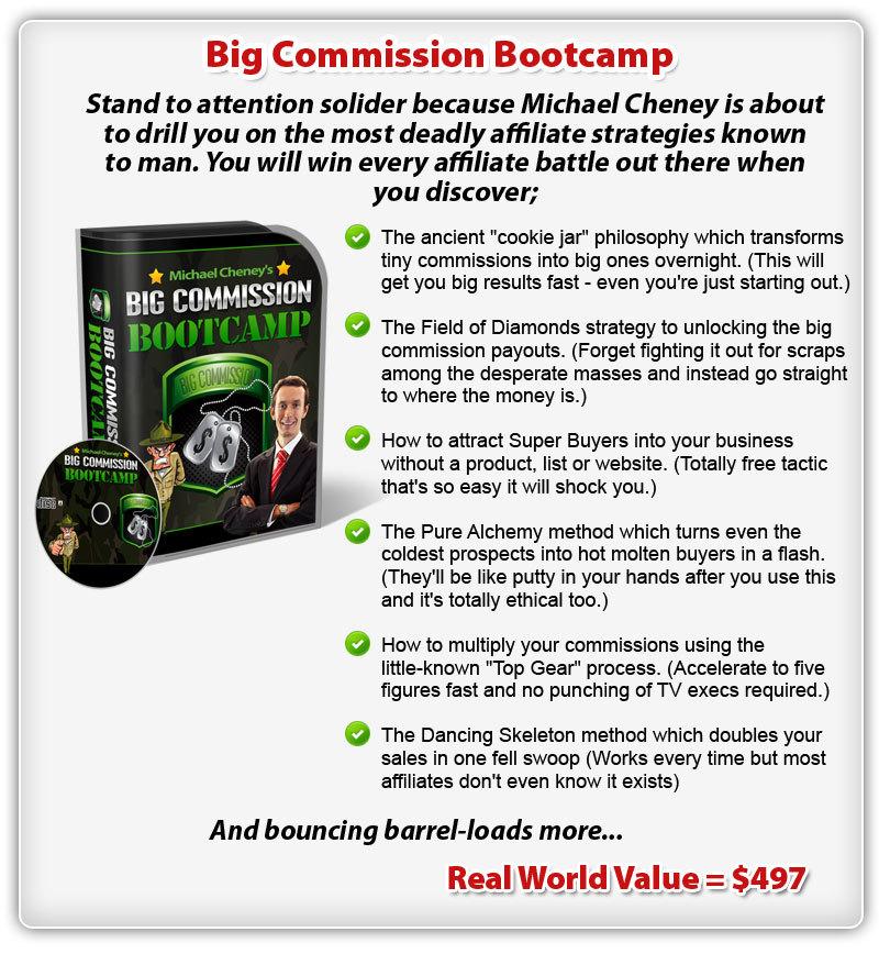 """bonus5 - Review of Michael Cheney's """"Commission Cartel"""" Training Bundle"""