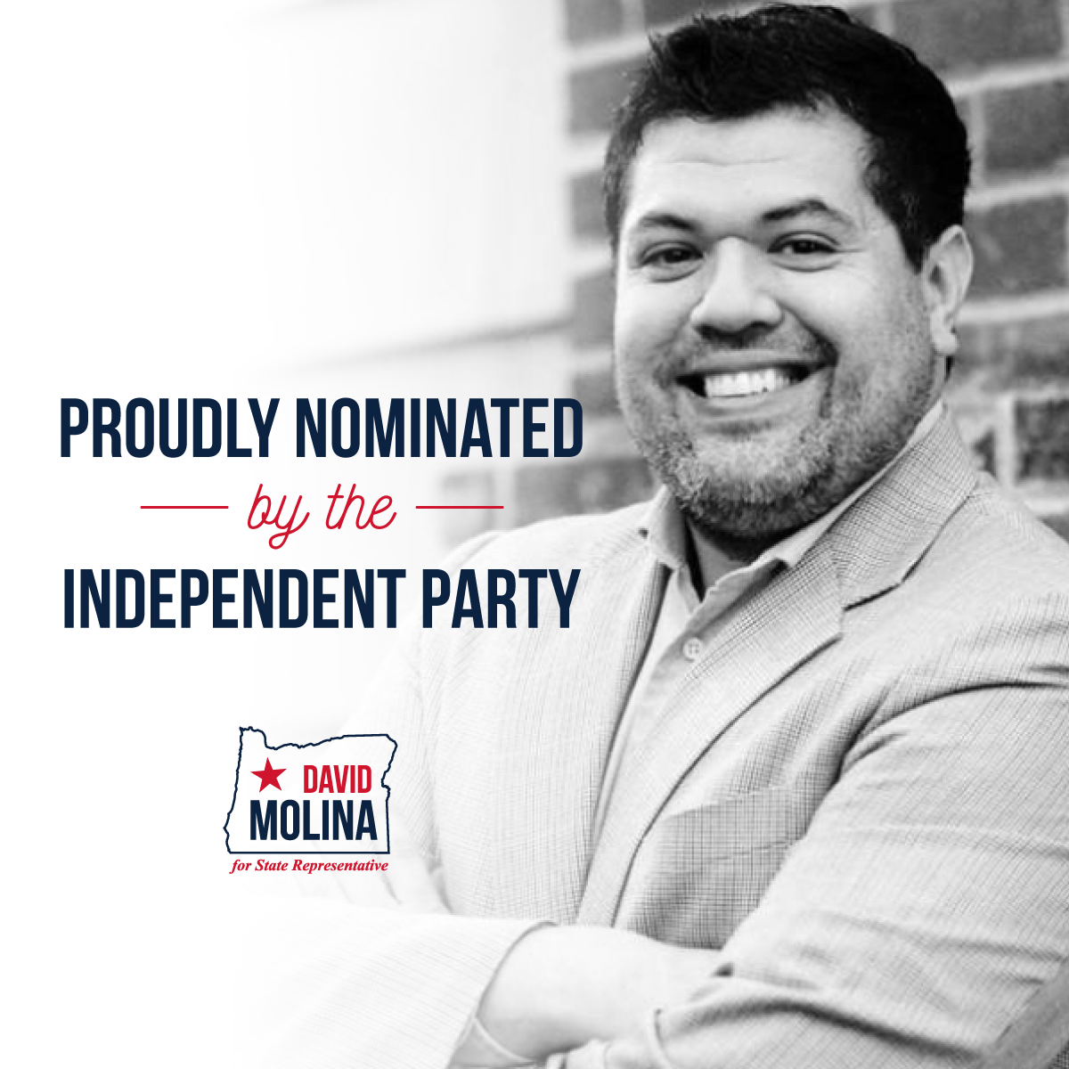 David Molina, candidate for House District 29 earns the most votes and accepts the Independent Party's write-in nomination