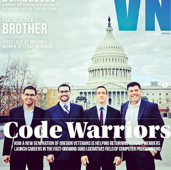 Operation Code Founder David Molina and fellow veterans in front of the U.S. Capitol, Washington, D.C., 2017